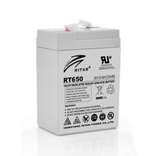 Акумуляторна батарея RT650 6V 5 Ah AGM RITAR