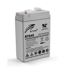 Акумуляторна батарея RT645 6V 4.5 Ah AGM RITAR