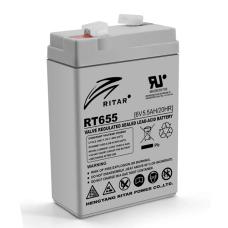 Акумуляторна батарея RT655 6V 5.5 Ah AGM RITAR