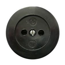 Розетка одинарна РА-16-У21 накладна чорна