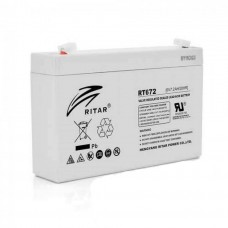 Акумуляторна батарея RT672 6V 7.2 Ah AGM RITAR