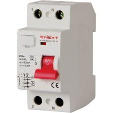 Диференціальний вимикач e.rccb.pro.2.25.30 2p 25А 30 мА E-next