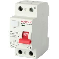 Диференціальний вимикач e.rccb.pro.2.40.30 2p 40А 30 мА E-next