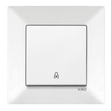 Кнопка дзвінка білий колір VIKO Meridian