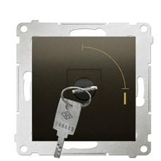 Вимикач Kontakt Simon Simon 54 Premium DW1K.01/46 з ключем на два положення (коричневий)