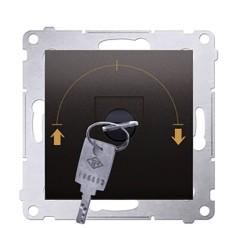 вимикач Kontakt Simon Simon 54 Premium DWZK.01/46 з ключем на три положення (коричневий)
