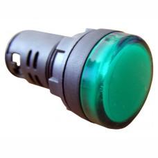 Світлосигнальна арматура AD22-22DS зелена 220V АC/DC Takel