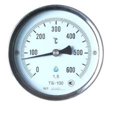 Термометр біметалічний ТБ-100-50 (0...+600)-1,5-О Склоприлад