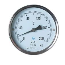 Термометр біметалічний ТБ-63-50 (0...+200)-2,5-О Склоприлад