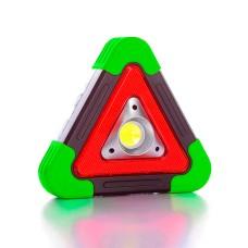 Світильник LED 1COB 30SMD RED зі знаком аварійної зупинки