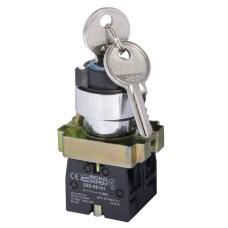 Перемикач XB2-BG03 1NO+1NO 3-позиційний поворотний ключ АскоУкрем