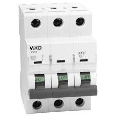 Автоматичний вимикач 4VTB-3C 10А  3п. VIKO
