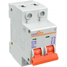 Автоматичний вимикач ECO 2р 10А EcoHome