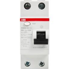 Пристрій захисного відімкнення FH202-AC-25/0.03 25А 30мА 2п. ABB