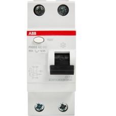 Пристрій захисного відімкнення FH202-AC-63/0.03 63А 30мА 2п. ABB