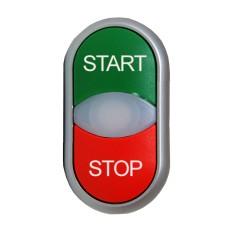 Кнопка M22-DDL-GR-GB1/GB0 Старт Стоп з сигнальною лампою Eaton