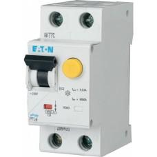 Диференційний автоматичний вимикач PFL6-10/1N/C/0.03 10А 30мА 1+Нп. Eaton