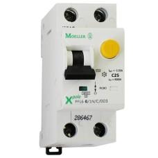 Диференційний автоматичний вимикач PFL6-25/1N/C/0.03 25А 30мА 1+Нп. Eaton