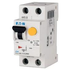 Диференційний автоматичний вимикач PFL6-32/1N/C/0.03 32А 30мА 1+Нп. Eaton
