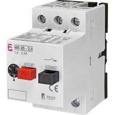 Автомат захисту двигуна MS25-2,5 ETI