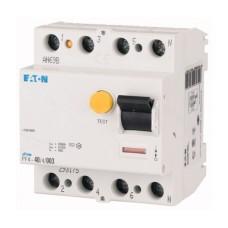 Пристрій захисного відімкнення PF4-40/4/0.03 40А 30мА 4п. Eaton