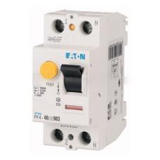 Пристрій захисного відімкнення PF4-40/2/0.03 40A 30мА 2п. Eaton