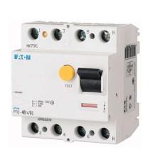 Пристрій захисного відімкнення PF6-40/4/0.1 40А 100мА 4п. Eaton