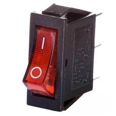 Перемикач КСD6 1-клавішний червоний з підсвіткою АскоУкрем