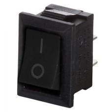 Перемикач YL211-05 1-кнопочний чорний АскоУкрем