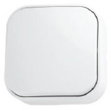 Вимикач 1-клавішний білий EVA