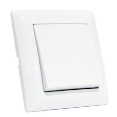 Вимикач 1-клавішний білий TINA