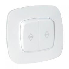 Вимикач прохідний 2-клавішний білий ELA