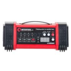 Зарядний пристрій 12/24В, 2/6/10А, 2/6A, 230В, дисплей INTERTOOL AT-3019