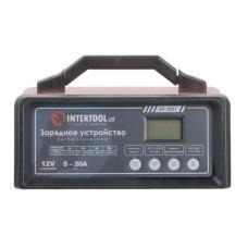 Зарядний пристрій 12В, 5/10/15/20А, 230В, режим реанімації, десульфатаціі акумулятора INTERTOOL AT-3021