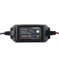 Зарядний пристрій 6/12В, 2А, 230В, максимальна ємність акумуляторної батареї 1.2-60 а/ч INTERTOOL AT-3022