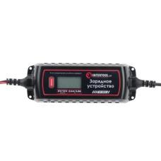 Зарядний пристрій 6/12В,0.8/3.8А, 230В, зимовий режим зарядки, дисплей, 1.2-120 а/ч INTERTOOL AT-3023