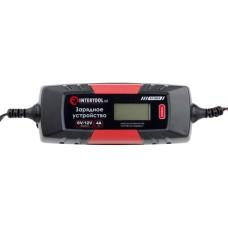 Зарядний пристрій 6/12В, 1/2/3/4А, 230В, зимовий режим зарядки, дисплей, 1.2-120 а/ч INTERTOOL AT-3024