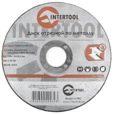 Диск відрізний по металу 125x1,0x22,2 мм INTERTOOL CT-4006