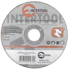 Диск відрізний по металу 125x1,2x22,2 мм INTERTOOL CT-4007