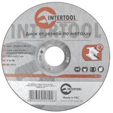 Диск відрізний по металу 125x2,5x22,2мм INTERTOOL CT-4010