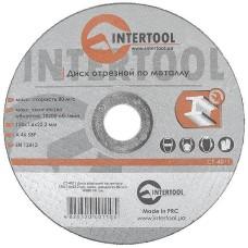 Диск відрізний по металу 150x1,6x22,2мм INTERTOOL CT-4011
