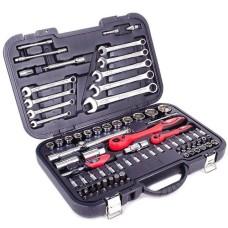 Професійний набір інструментів 1/2 & 1/4; 82 од INTERTOOL ET-6082