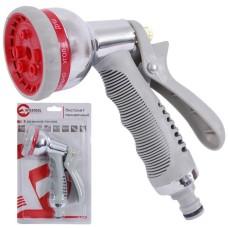 Пістолет-розпилювач для поливу хромований, 8 функцій INTERTOOL GE-0004