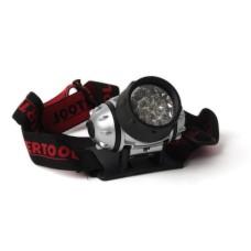 Ліхтар налобний світлодіодній, чотири режими роботи, 19 LED, батарейки 3 ААА. INTERTOOL LB-0301