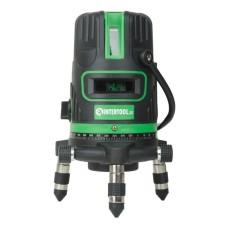 Рівень лазерний 5 лазерних головок, зелений лазер, звукова індикація. INTERTOOL MT-3008