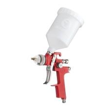 Фарбопульт пневматичний HVLP, форсунка 1.4мм, верхній пластиковий бачок 600мл., 3бар INTERTOOL PT-0104