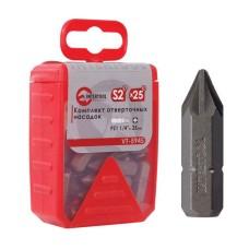 Комплек насадок до викруток PZ1 1/4 * 25 мм уп. 25 шт. VT-5945 Intertool