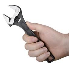 Ключ розвідний 200мм, Cr-V, чорний, фосфатований. XT-0058 Intertool