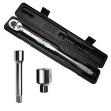 Динамометричний ключ 1/2 перехідник 1/2 х 3/8, подовжувач 125 мм 1/2 28-210 NM INTERTOOL XT-9007
