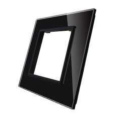 Рамка для Терморегулятор сенсорний DEVI Devireg Touch колір чорний скло (C3-SR-12)